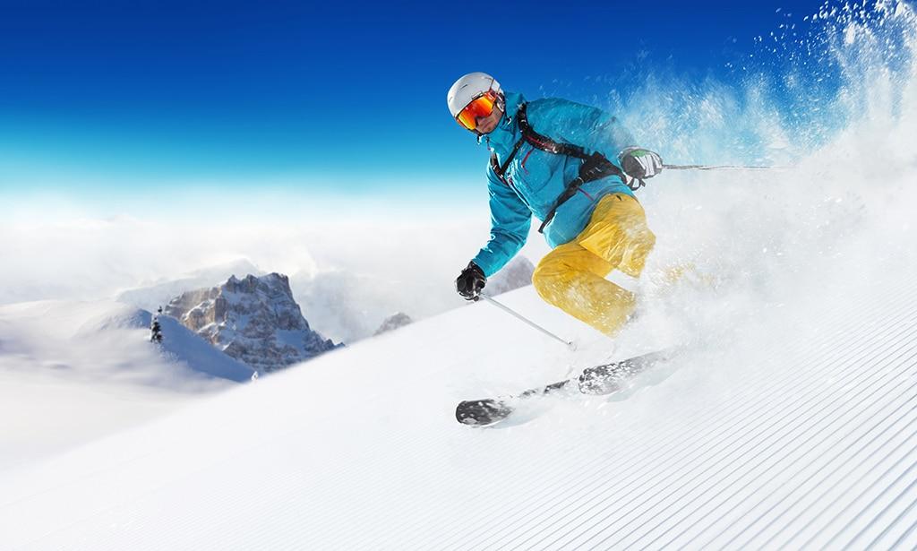 Skifahren in La Graf