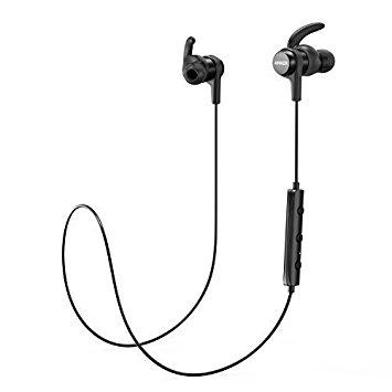 Anker Bluetooth Kopfhörer SoundBuds Flow in Ear magnetisches Headset, mit Wasserschutzklasse IPX5/7-Stunden-Spielzeit/Mikrofon, federleicht für iPhone, iPad, Samsung, Nexus, HTC und mehr