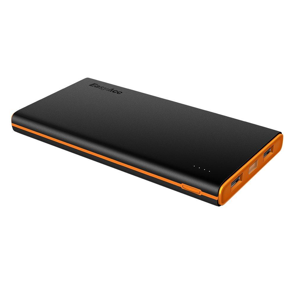 EasyAcc Powerbank 10000mAh Externer Akku 3.1A Portable Smart Ladegerät für iPhone, iPad, Samsung Galaxy und weitere, die dünnere und leichtere Powerbank