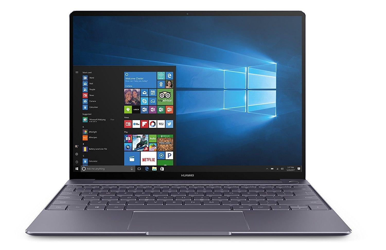 HUAWEI MateBook X 33,78 cm (13,3 Zoll FHD+ Display) Notebook (Intel® Core™ i5-7200U, 8 GB RAM, 256 GB SSD, 2 USB 3.0 (Type C) Dolby Atmos®, Windows 10 Home) grau