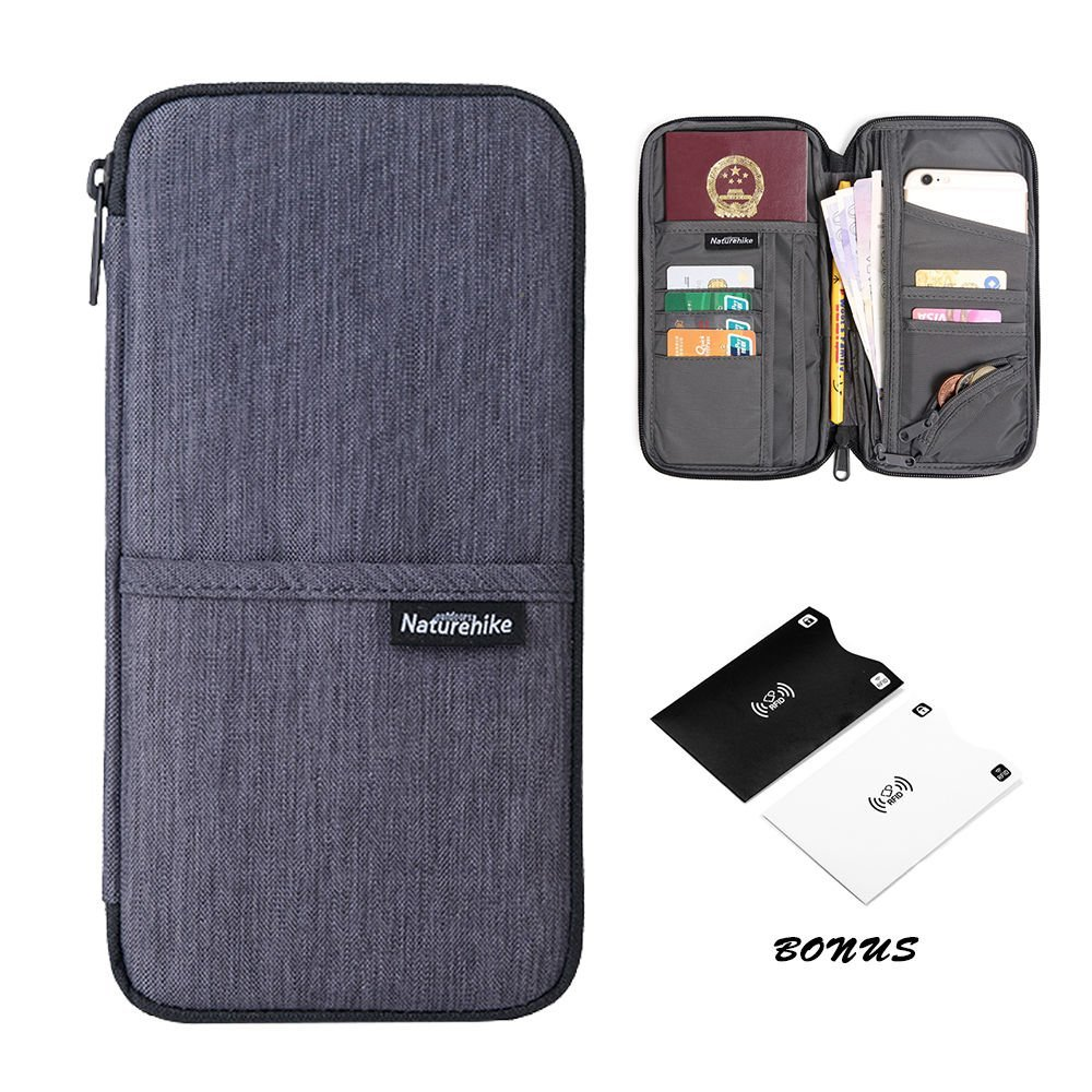 Reise-Brieftasche Reisepass-Halter langlebig wasserdicht Organizer mit Handschlaufe für Familien-Dokumente Karten