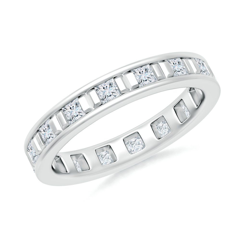 0.48 CT TW 14K White Gold Channel Set Eternity Moissanite Wedding Band