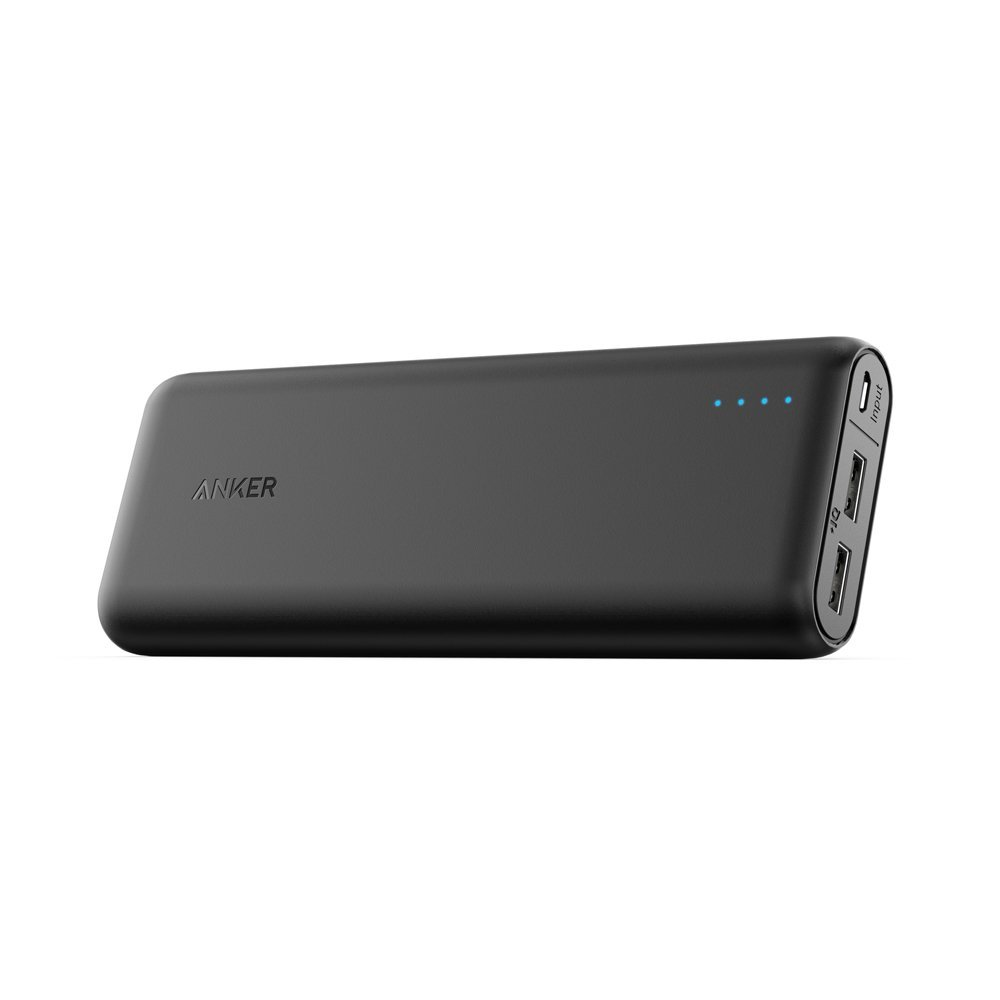 Anker PowerCore 20100mAh Externer Akku - kompakter als jemals zuvor - extrem hohe Kapazität 2-Port 4.8A Output Power Bank Ladegerät mit PowerIQ Technologie für iPhone, iPad, Samsung Galaxy und weitere (Schwarz/Matt)