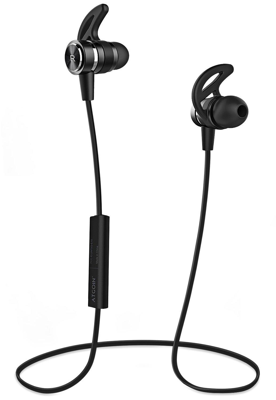 Bluetooth Kopfhörer, ATGOIN Bluetooth 4.1 In-Ear Kopfhörer, Magnetische Kabellose Kopfhörer Wasserdicht Stereo-Sportkopfhörer mit Mikrofron, 6h Wiedergabezeit für Workouts