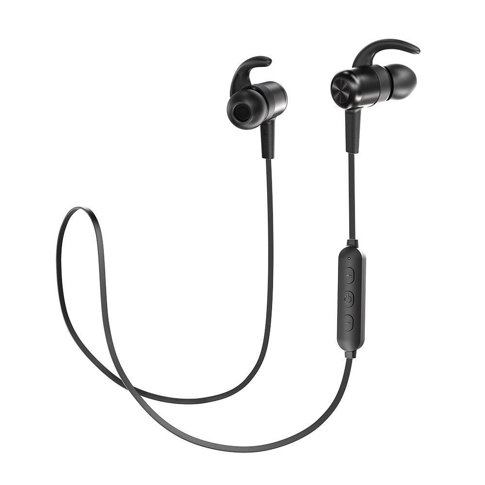 Bluetooth Kopfhörer Magnet 4.1 TaoTronics Sport Kopfhörer IPX6 9 Stunden Spielzeit In Ear Wireless Headset, CVC 6.0 Geräuschunterdrückung MEMS Mikro 15g kompatibel mit iOS Android Geräten