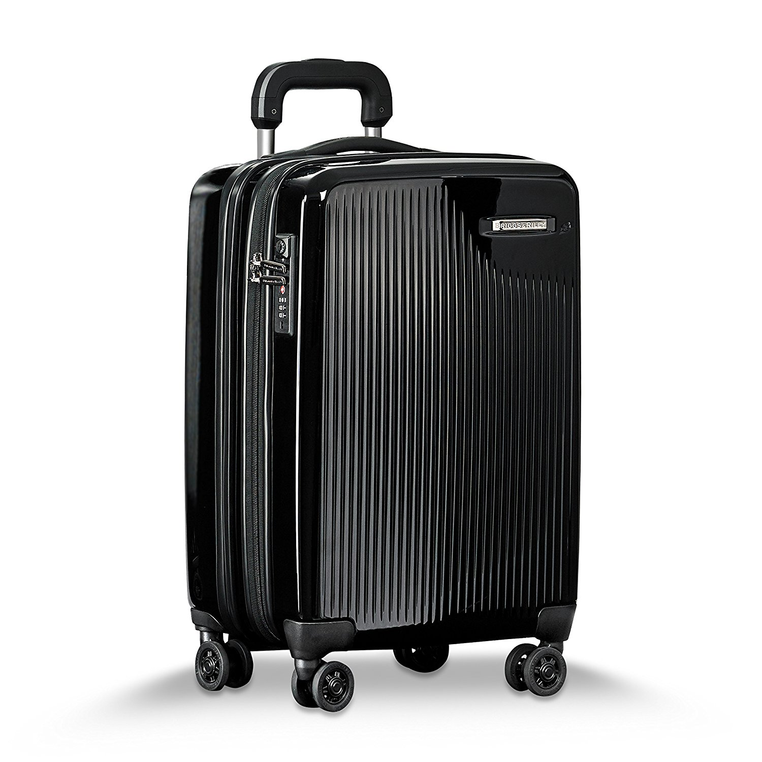 Briggs & Riley Sympatico International Carry-On Expandable Spinner, 55cm, 53 litres, Onyx Koffer, 54 cm, liters, Schwarz (Onyx)