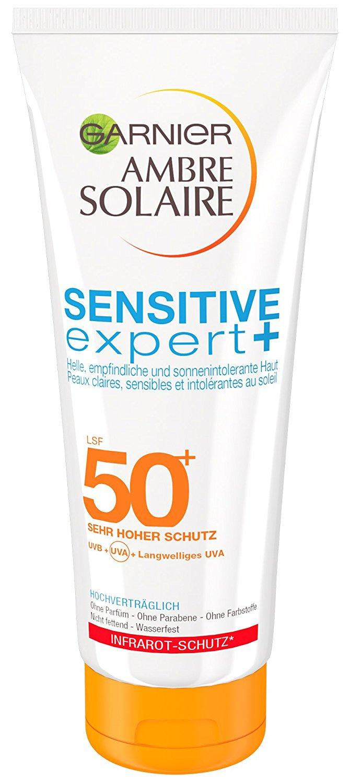Garnier Ambre Solaire Sensitive expert+ Milch LSF 50+, 200 ml