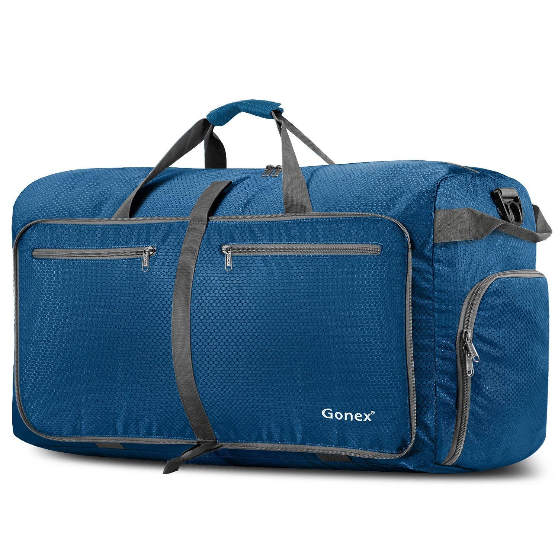 Gonex Leichter Faltbare Reise-Gepäck 60L & 80L & 100L Duffel Taschen Übernachtung Taschen/ Sporttasche für Reisen Sport Gym Urlaub
