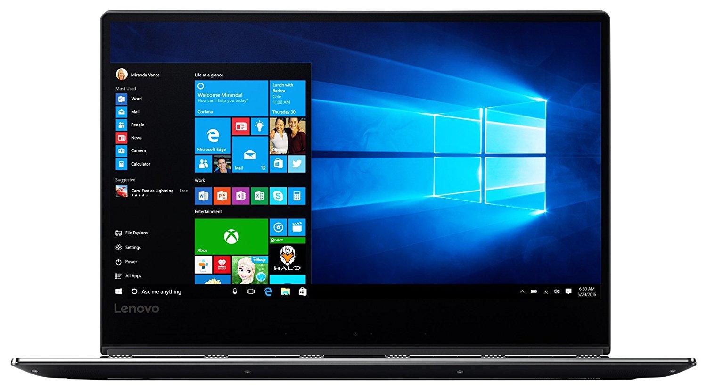 Lenovo Yoga 910 35,3 cm (13,9 Zoll Full HD IPS Multi-Touch) Convertible Laptop (Intel Core i7-7500U, 16GB RAM, 1TB SSD, Intel HD Grafik 620, Windows 10 Home) grau