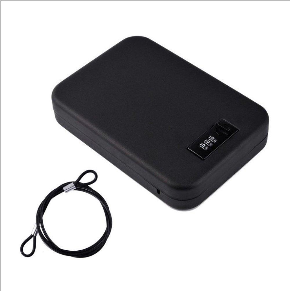 nuzamas tragbar Sicher, Stahl Kombination Kabel LOCKBOX Sicher für Reise, Auto oder Zuhause Lock Box Aufbewahrung
