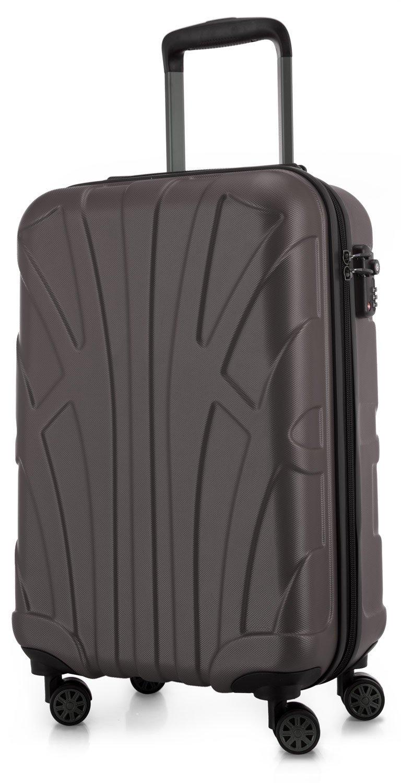 SUITLINE - Handgepäck Hartschalen-Koffer Koffer Trolley Rollkoffer Reisekoffer, TSA, 55 cm, 34 Liter, Titan