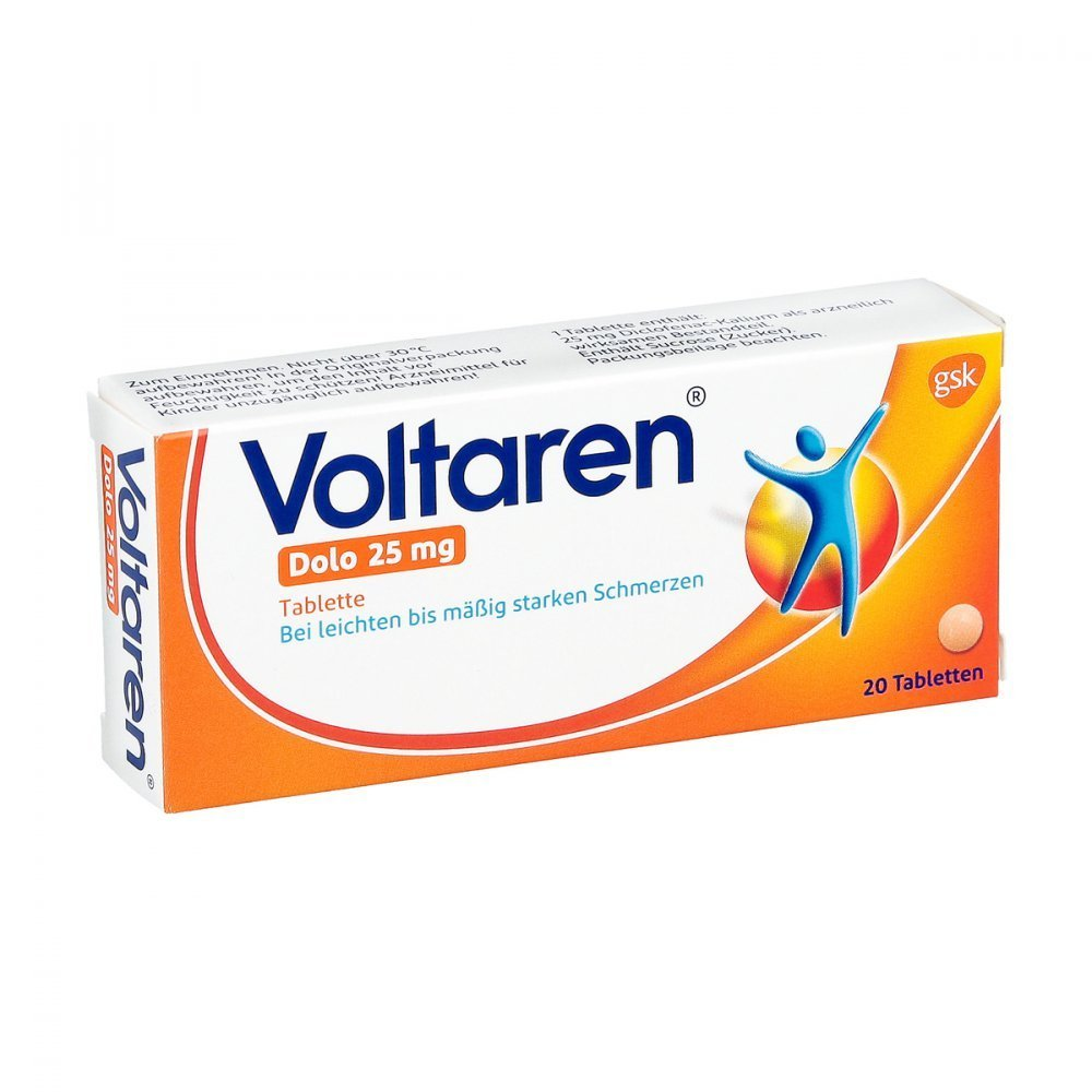 Voltaren Dolo 25 mg Tabletten, 20 St.