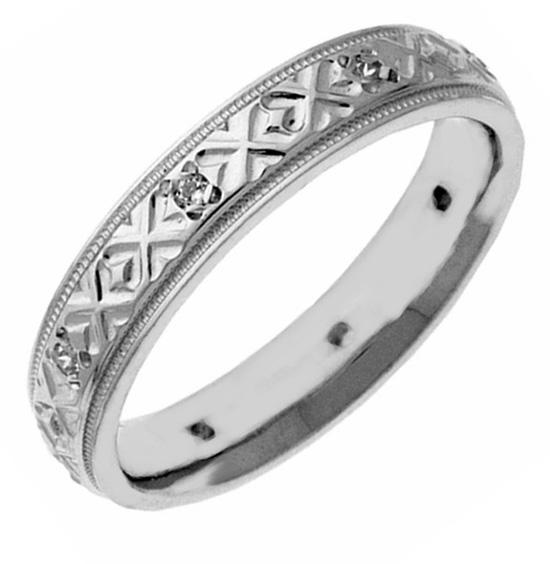 XXO Diamond Wedding Band Ring for Women