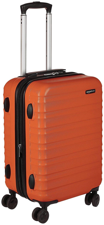 AmazonBasics Hartschalen-Trolley - 55 cm Kabinengröße, Orange