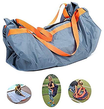 Ginkago Picknickdecke und Tragetasche 2in1Outdoor Blanket Campingdecke Wasserabweisend Strandtasche Fatbar Tragbar Picknick Matte