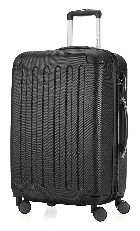 HAUPTSTADTKOFFER - Spree - Hartschalen-Koffer Koffer Trolley Rollkoffer Reisekoffer Erweiterbar, TSA, 4 Rollen, 65 cm, 74 Liter, Schwarz
