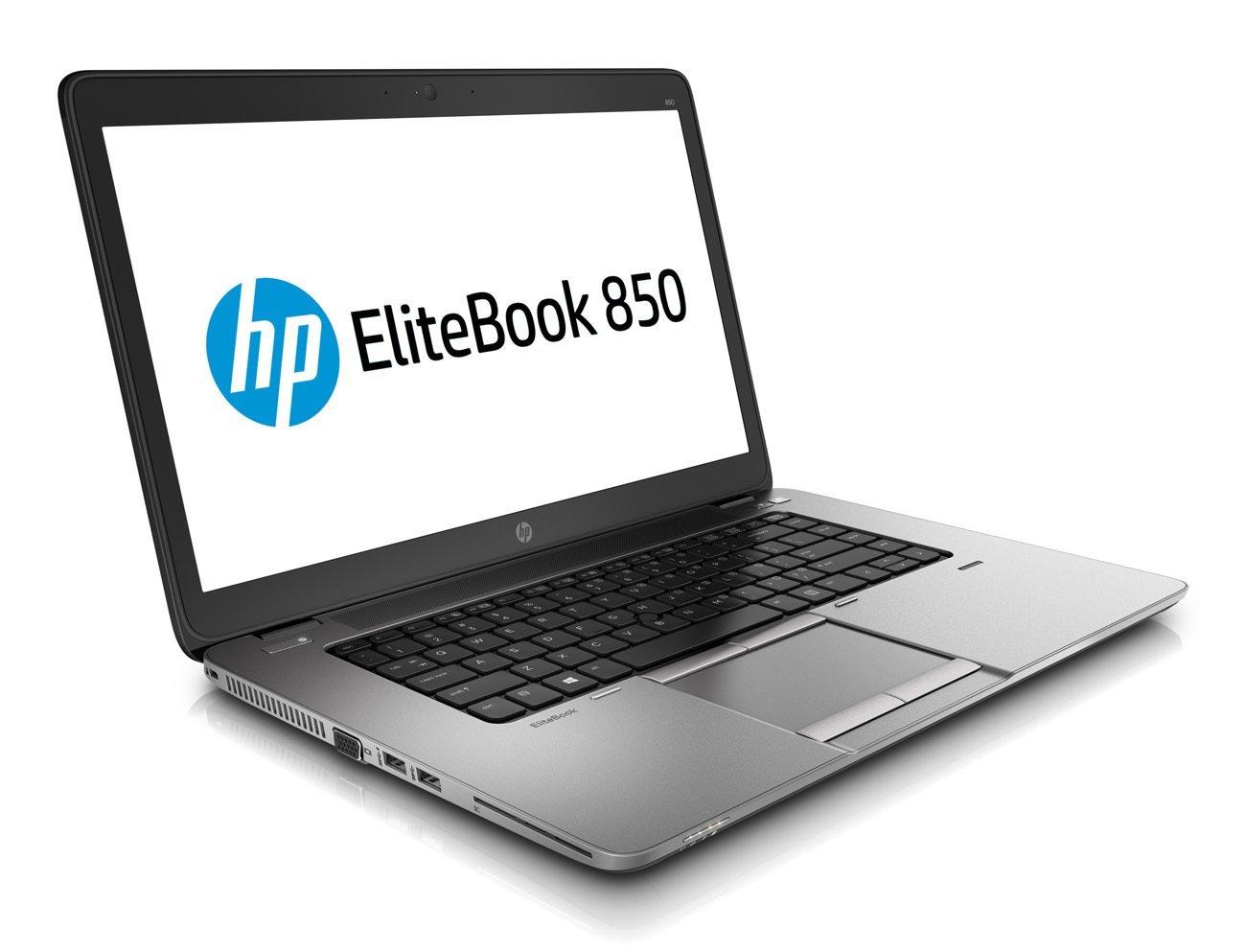 HP EliteBook 850 G1 15,6 Zoll 1920x1080 Full HD Intel Core i5 512GB SSD Festplatte 8GB Speicher Win 10 Pro Webcam Tastaturbeleuchtung G6K68EC Notebook Laptop (Zertifiziert und Generalüberholt)