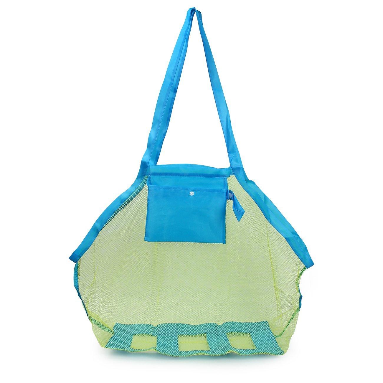 Latinaric 1pc Sand Strand Tasche Netztasche Sandspielzeug Aufbewahrungstasche für Kinder