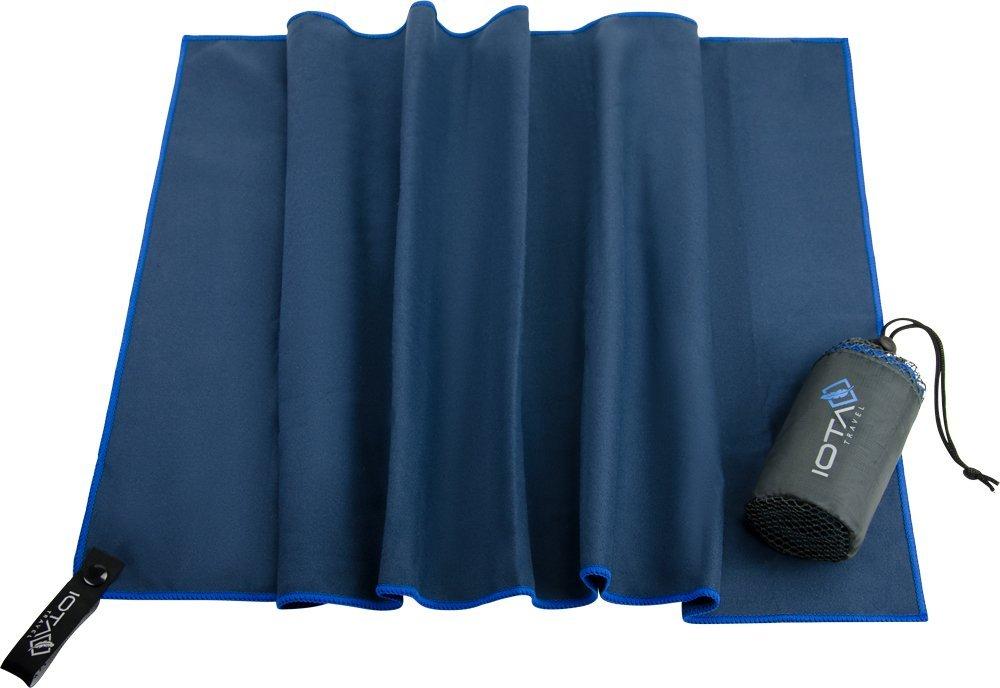IOTA Ultraleichtes Mikrofaser-Reise-Handtuch, geringes Packmaß, schnelltrocknend, antibakteriell