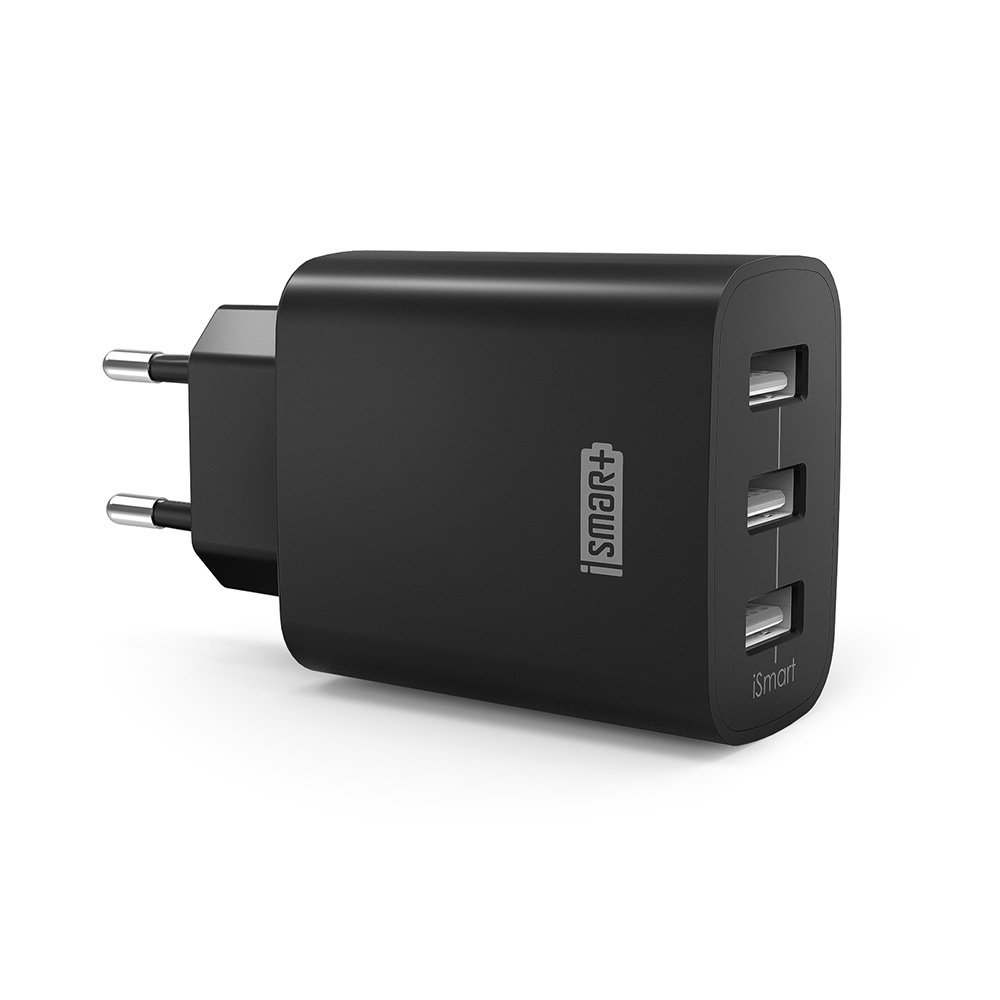 USB Ladegerät RAVPower 3-Port 30W 6A Ladeadapter mit iSmart Technologie für iPhone X/8/8 Plus, Galaxy S9/S9 Plus/S8/S8 Plus/Note, iPad, Sony, HTC, Motorola, LG und weitere, schwarz