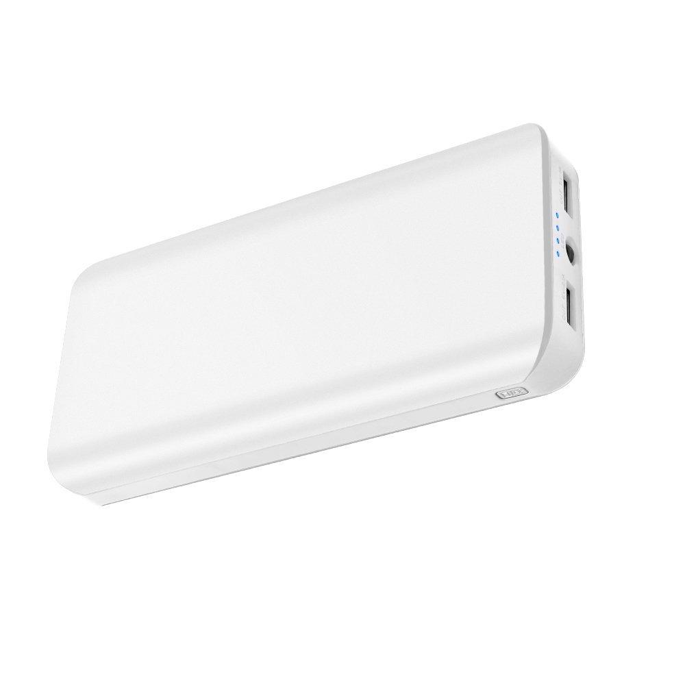 Powerbank 25000mAh 2 USB Ports Externer Akku mit LED-Statusanzeige LED Licht Extrem hohe Kapazitat Powerbank für iPhone X / 8 /7 Plus iPad Samung Huawei Tablet Kameras PSP und andere Smartphones (Weiß)
