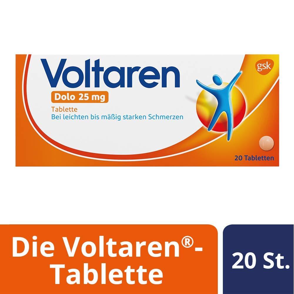 Voltaren Dolo 25 mg, überzogene Tabletten mit Diclofenac, 20 St.