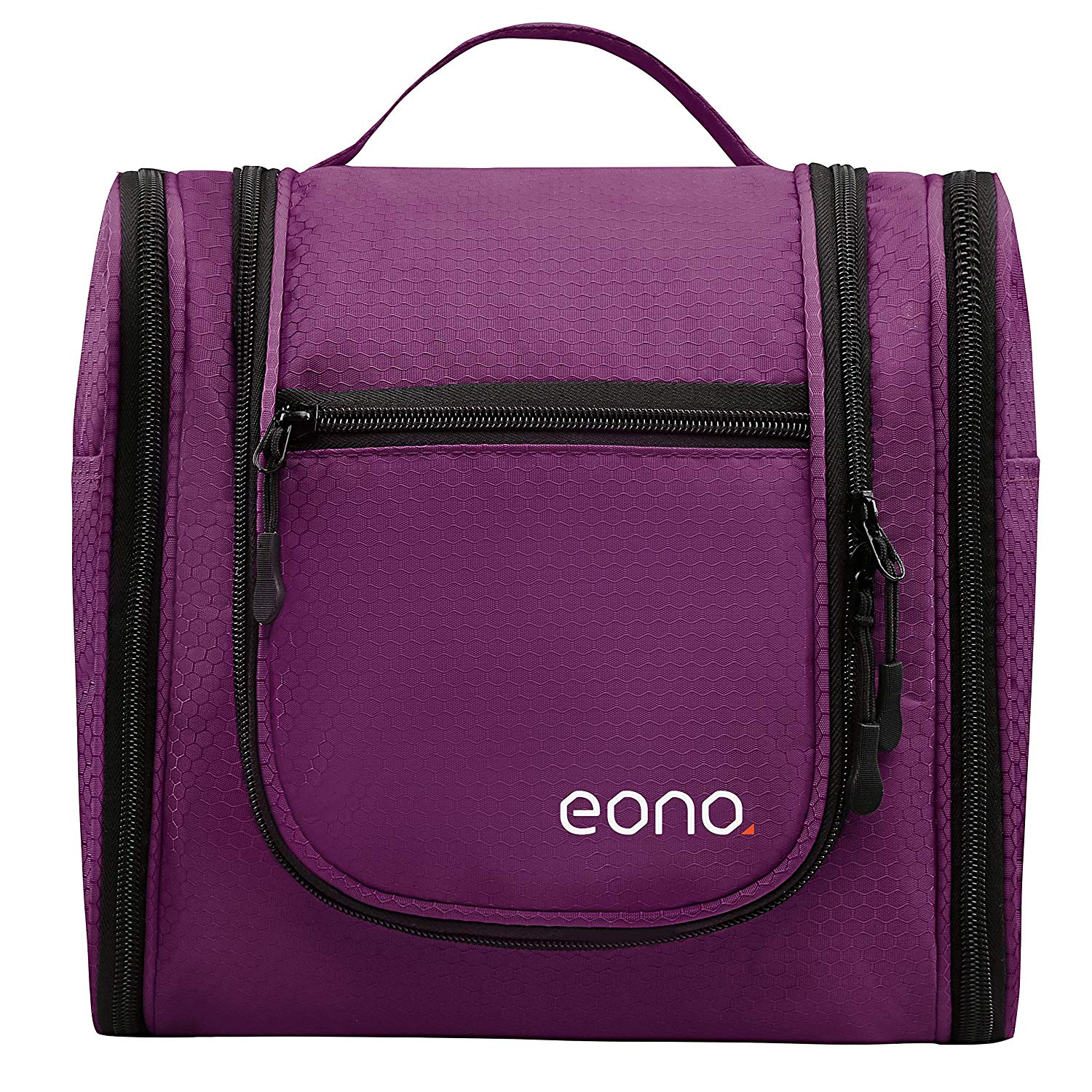 Eono Essentials Large Men & Women Toiletry Bag for Makeup, Cosmetic, Shaving, Travel Accessories, Personal Items - Hanging Toiletries Kit Makeup Organizer Purple