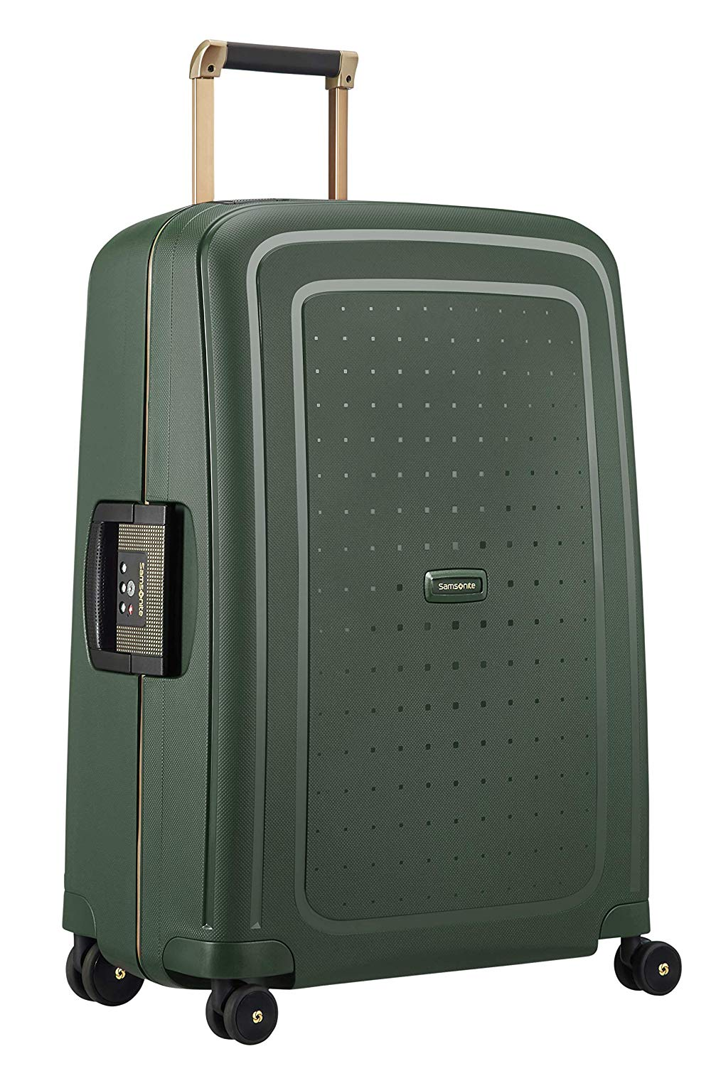 SAMSONITE S'Cure DLX Spinner 69 Koffer 69 cm, 79 L, Dark Green Gold Deluscious