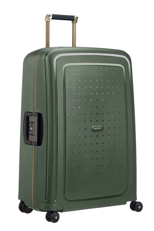 SAMSONITE S'Cure DLX Spinner 75 Koffer 75 cm, 102 L, Dark Green Gold Deluscious