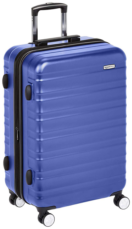 AmazonBasics - Hochwertiger Hartschalen-Trolley mit eingebautem TSA-Schloss, 68 cm, Blau