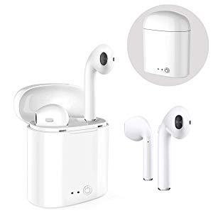 Bluetooth-Kopfhörer, Stereo-In-Ear-Ohrhörer Drahtloses eingebautes Mikrofon Kopfhörer-Ladekoffer für Apple iPhone 8 X 7 7 Plus 6S 6S Plus für Samsung Galaxy S7 S8 Plus für Android-Smartphones