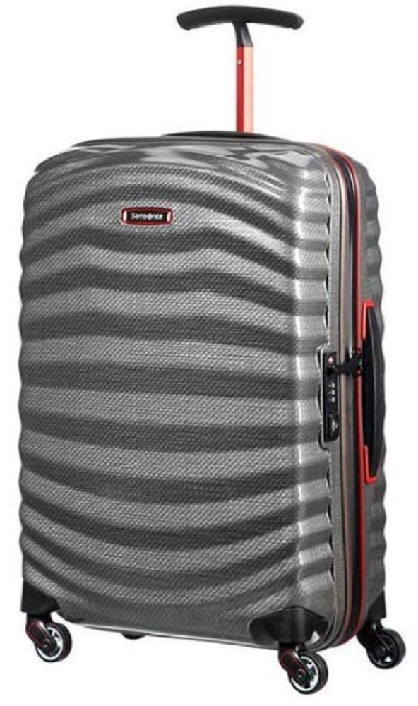 Samsonite Lite-Shock Sport Spinner 105262 Trolley 4-Rollen 55x40x20cm Grey/red