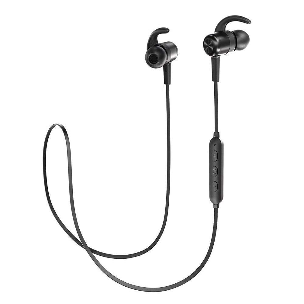 TaoTronics Bluetooth Kopfhörer 4.1 In Ear Wireless Headset mit Magnet bis zu 8 Stunden Spielzeit, IPX6 Spritzerfest, CVC 6.0 Geräuschunterdrückung MEMS Mikro 15g kompatibel mit iOS Android Geräten