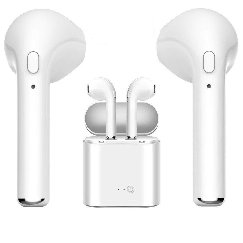 Bluetooth Kopfhörer 4.2 Kabellose In-Ear-Ohrhörer Sport Stereo Ohrhörer mit Tragbarer Ladekästchen und Mikrofon für Apple iPhone, iPad, Samsung, und Android Geräte - Geschenk des neuen Jahres