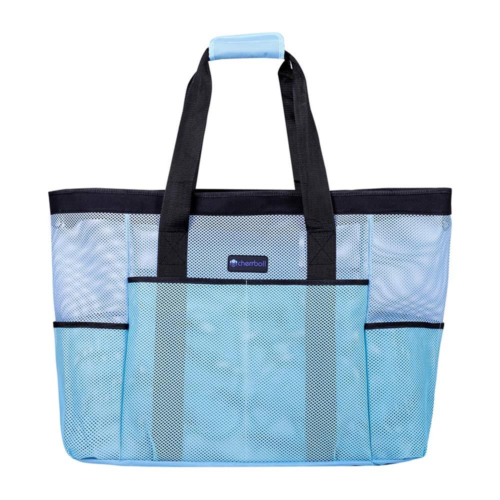 DELEBAO Große Strandtasche Damen Badetasche Sommer Beach tasche Hoch Kapazität mit Reißverschluss Strand Shopper