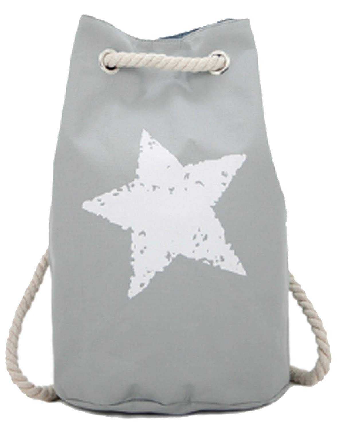 Duffel Bag Star grau Damen Backpack Beach Bag Strandtasche in 6 Trendigen Farben !!Top!!
