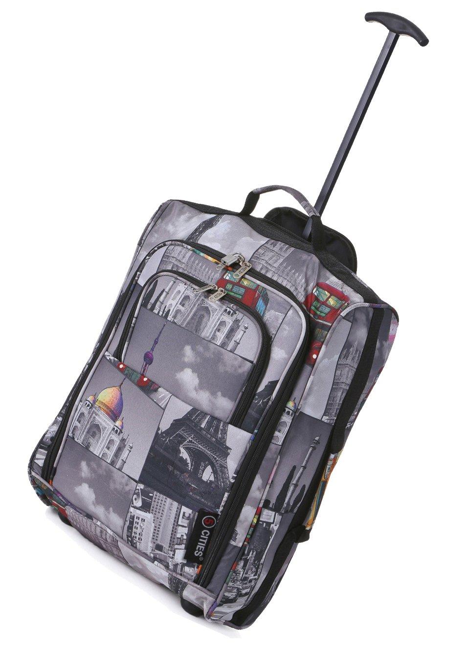 5 Cities 42L Leichtes Trolley-Tasche Bordgepäck Kabinengepäck 2 Rädern Kabinenzugelassenes Handgepäck für Lufthansa, Ryanair, EasyJet (Städte)
