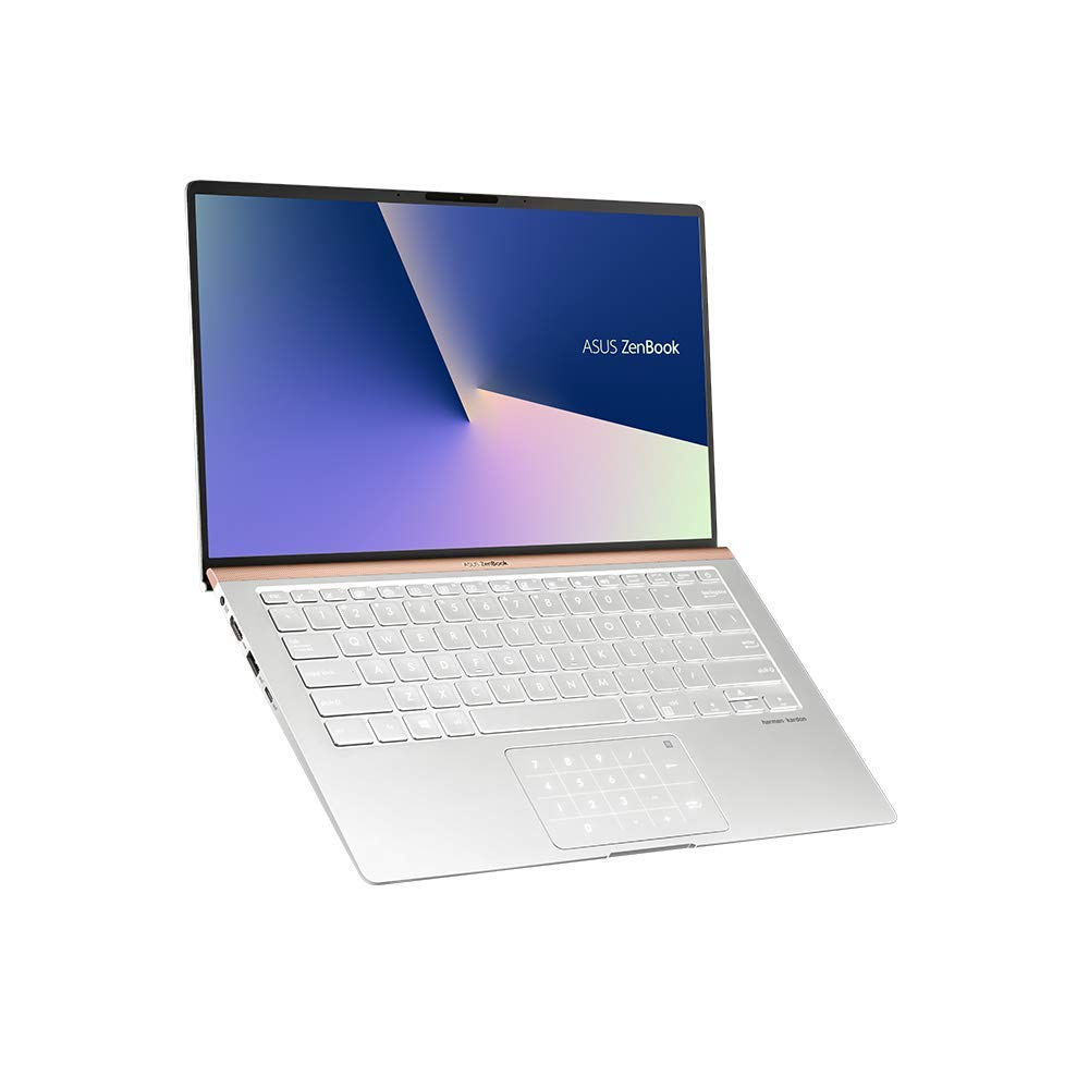 ASUS ZenBook 14 UX433FA (90NB0JR4-M04270) 35,5 cm (14 Zoll, FHD, WV, Matt) Ultrabook (Intel Core i5-8265U, 8GB RAM, 256GB SSD, Intel UHD-Grafik 620, Windows 10) Icicle Silver
