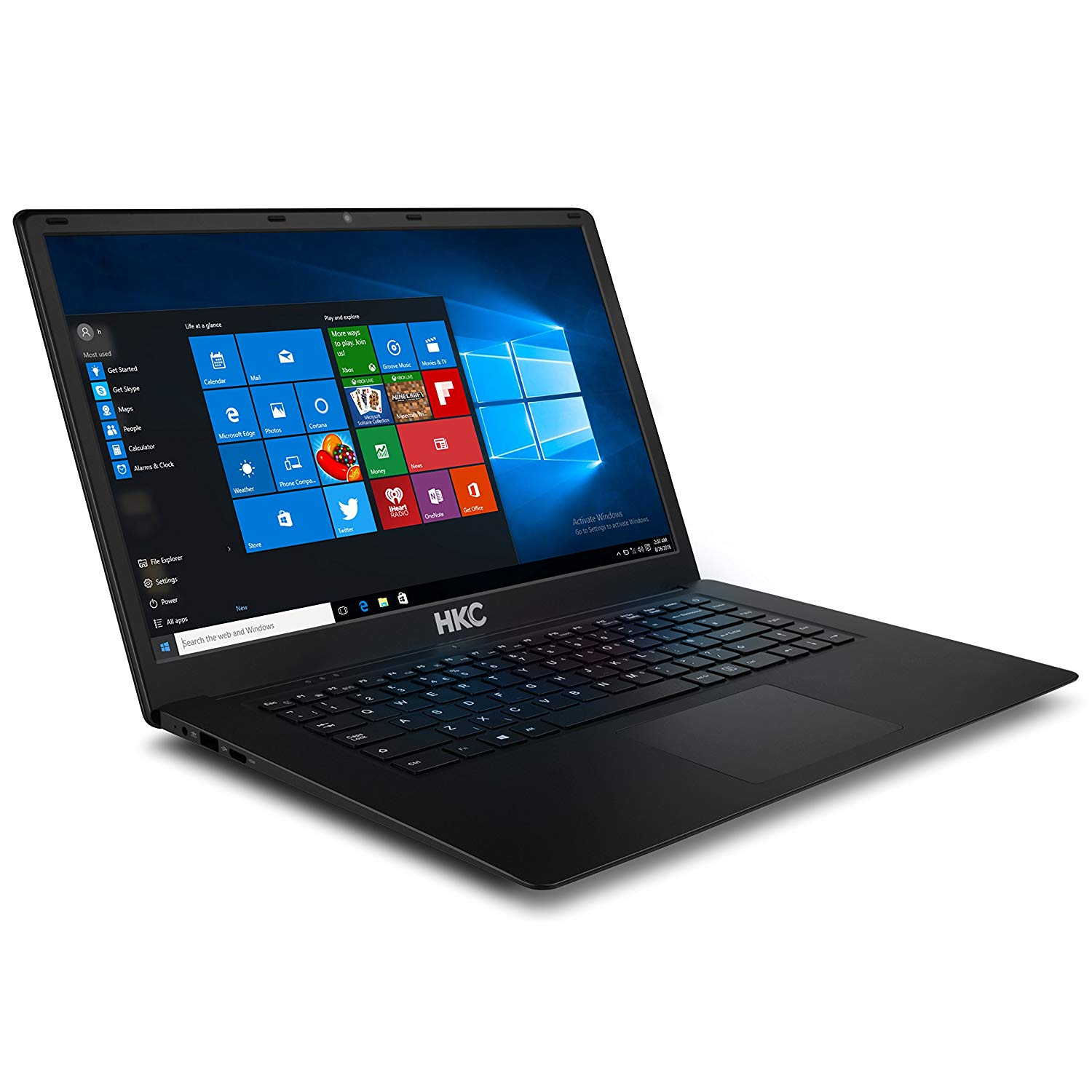 HKC N16CA 39,5 cm (15,6 Zoll) Notebook (Intel Apollo Lake 1,1 GHz, 6 GB DDR3L, 32 GB eMMC, Intel HD Graphics 5000, HDMI, Webcam, Bluetooth, USB 3.0, WLAN, Windows 10) schwarz
