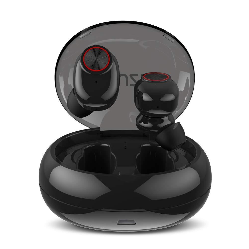 Muzili Bluetooth Kopfhörer Kabellose Bluetooth Kopfhörer in Ear IPX5 Wasserdicht Sport Headset mit HD Stereo 500mAh Ladebox mehr als 20 Stunden Spielzeit Eingebautem Mikrofon für IOS und Android
