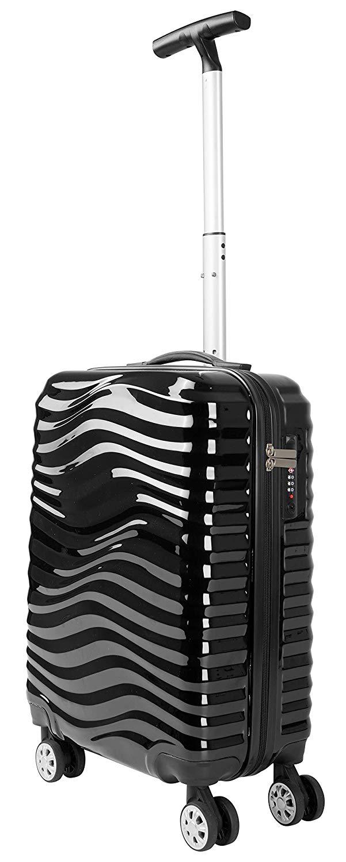Pack.It Leichtgewichtiger Trolley mit ABS-Hartschale, mit 360° drehbaren 4 Doppelrollen, Schwarz, Genehmigt für Ryanair, Easyjet und Lufthansa