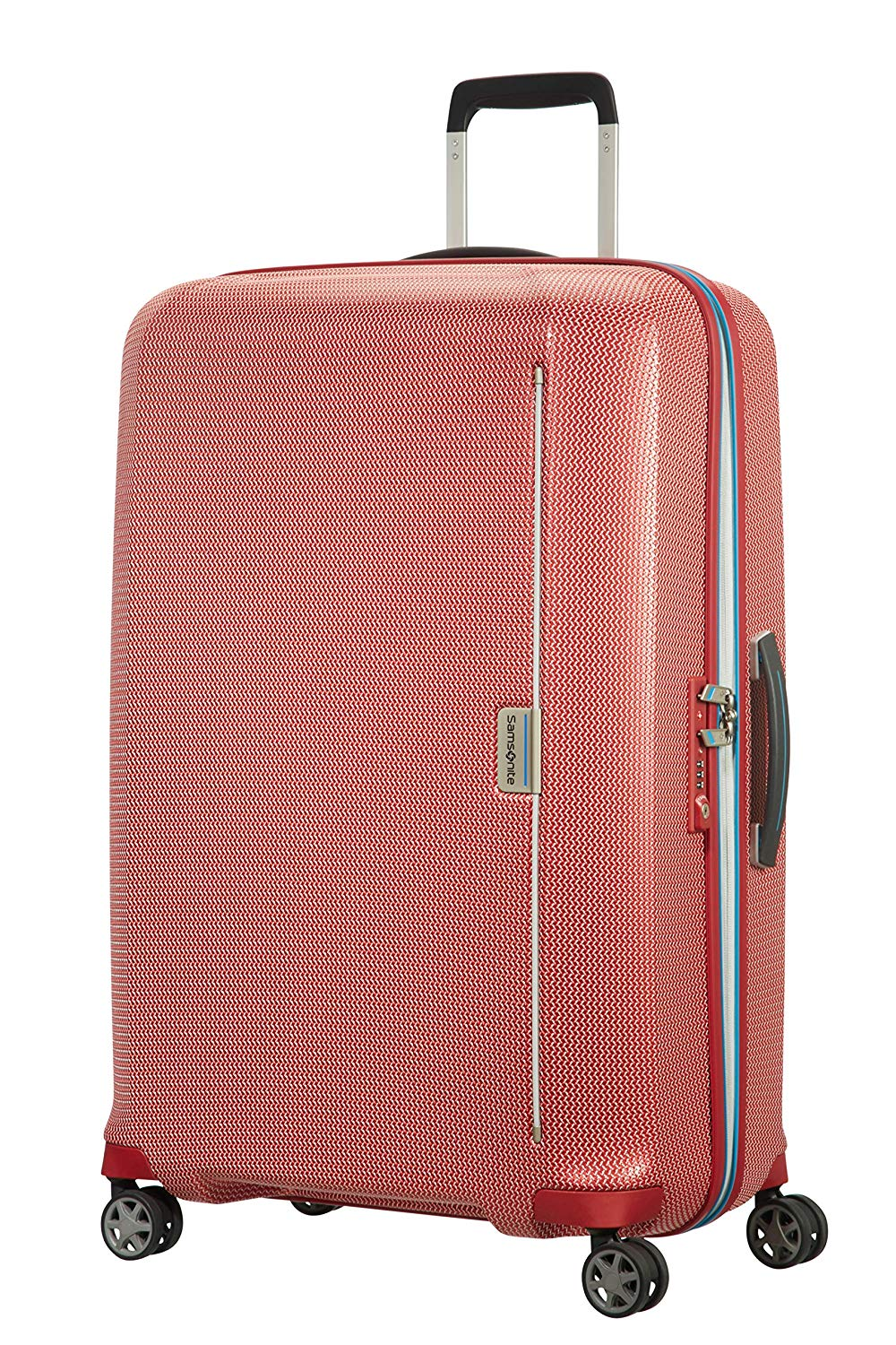 Samsonite Mixmesh - Spinner Large Koffer, 75 cm, 93 Liter, Red/Pacific Blue