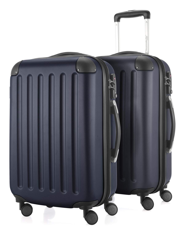 HAUPTSTADTKOFFER - Spree - 2er Koffer-Set Handgepäck Hartschale, TSA, 55 cm mit Volumenerweiterung, Dunkelblau