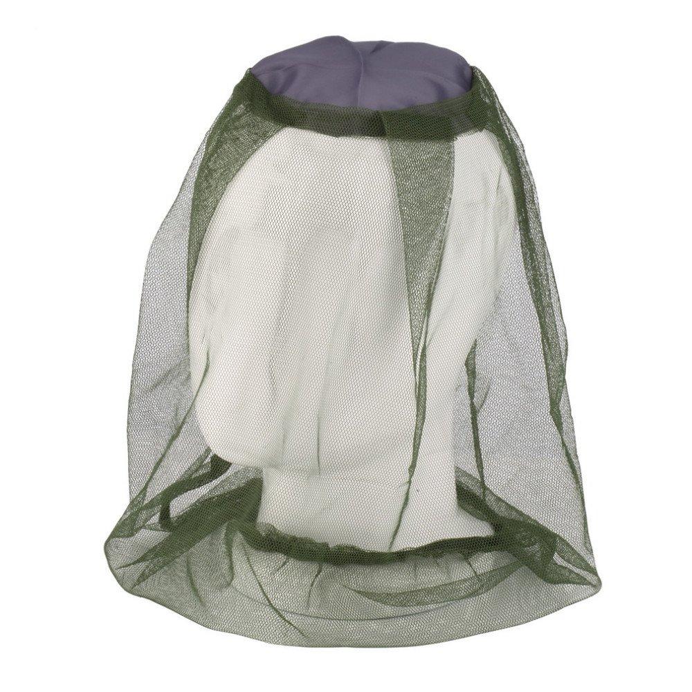 SODIAL Moskito Maske Moskito Kopf Netz Gesicht & Nackenschutz - Outdoor Moskitonetz Camping Hut
